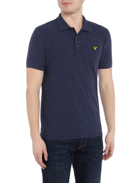 Lyle and Scott Flecked short sleeve polo shirt