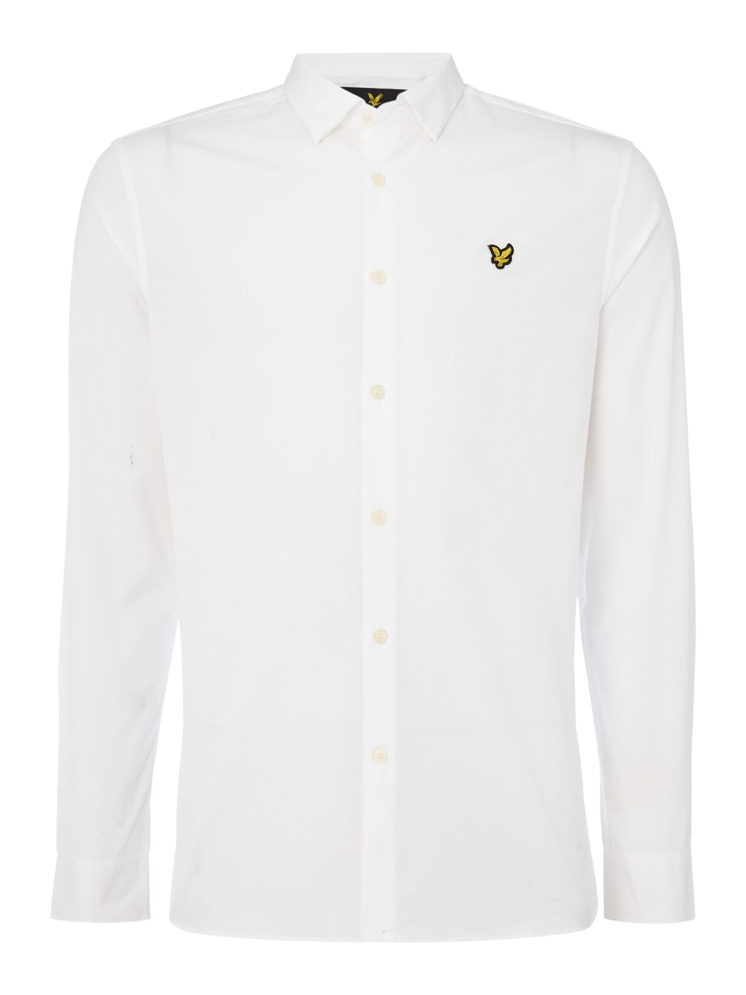 Lyle and Scott Men's Lyle and Scott Long sleeve slim fit poplin shirt, White