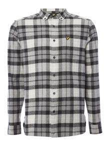 Lyle and Scott Long sleeve check flannel shirt