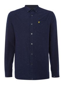 Lyle and Scott Long sleeve brushed fleck shirt