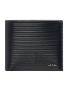 Paul Smith London Saffiano Stripe Embossed Bilfold Wallet