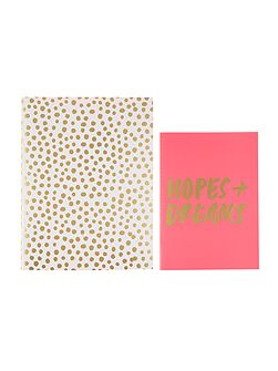 Petite party dots, good ideas notebook set