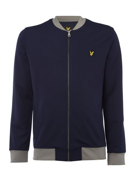 Lyle and Scott Contrast rib tricot bomber