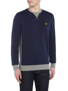 Lyle and Scott Contrast rib crew neck sweatshirt