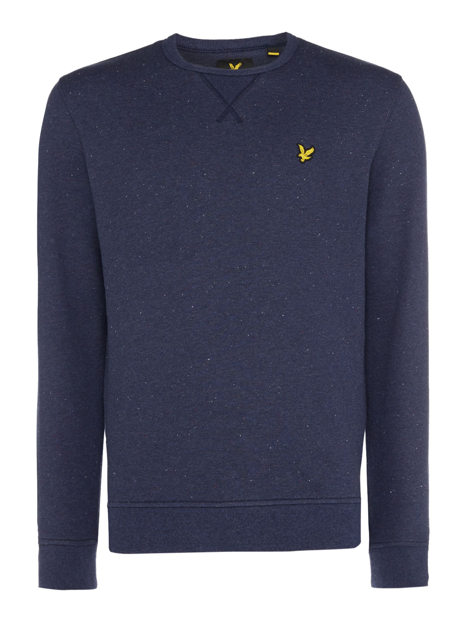 Men's Lyle and Scott Brushed fleck crew neck sweatshirt, Blue