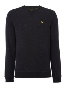 Lyle and Scott Brushed fleck crew neck sweatshirt