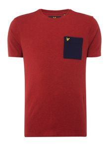 Lyle and Scott Ottoman stitch pocket short sleeve tshirt