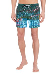 Ted Baker Flamingo Print Swim Shorts