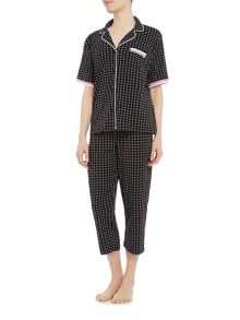 DKNY SS top and capri exclusive pyjama set