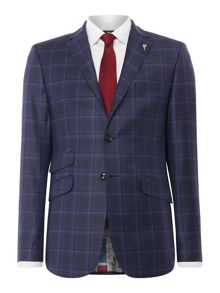 Ted Baker Gave Slim Large Check Suit Jacket