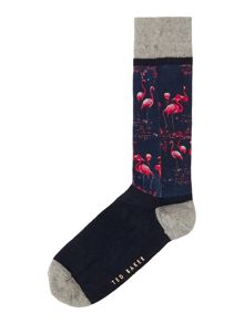 Ted Baker Flamingo Print Socks