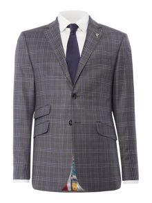 Ted Baker Flore Slim Fit Tonal Check Suit Jacket