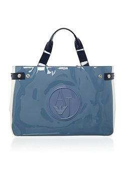 Vernice tricolour tote bag