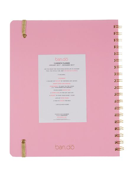 Ban.do I am very busy 12 month planner