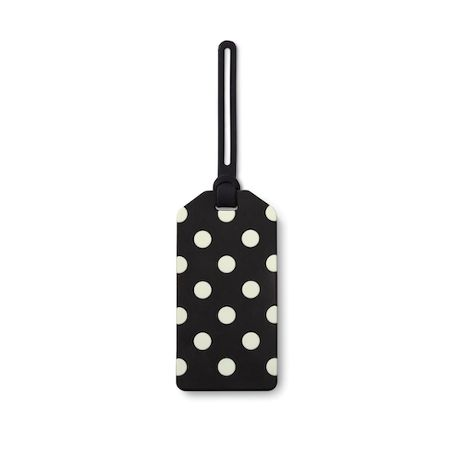 Kate Spade New York Off we go Black Luggage Tag