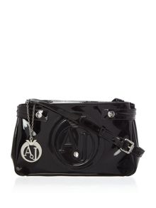 Armani Jeans Vernice medium crossbody bag