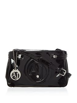 Vernice medium crossbody bag