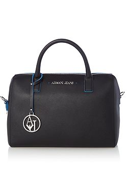 Eco-saffiano bowler bag