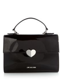 Love Moschino Patent satchel tote bag
