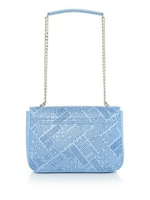 Love Moschino Stitch foldover bag