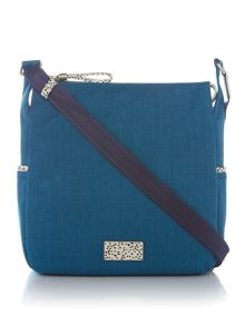 Radley Eco cloth street medium ziptop acrossbody bag