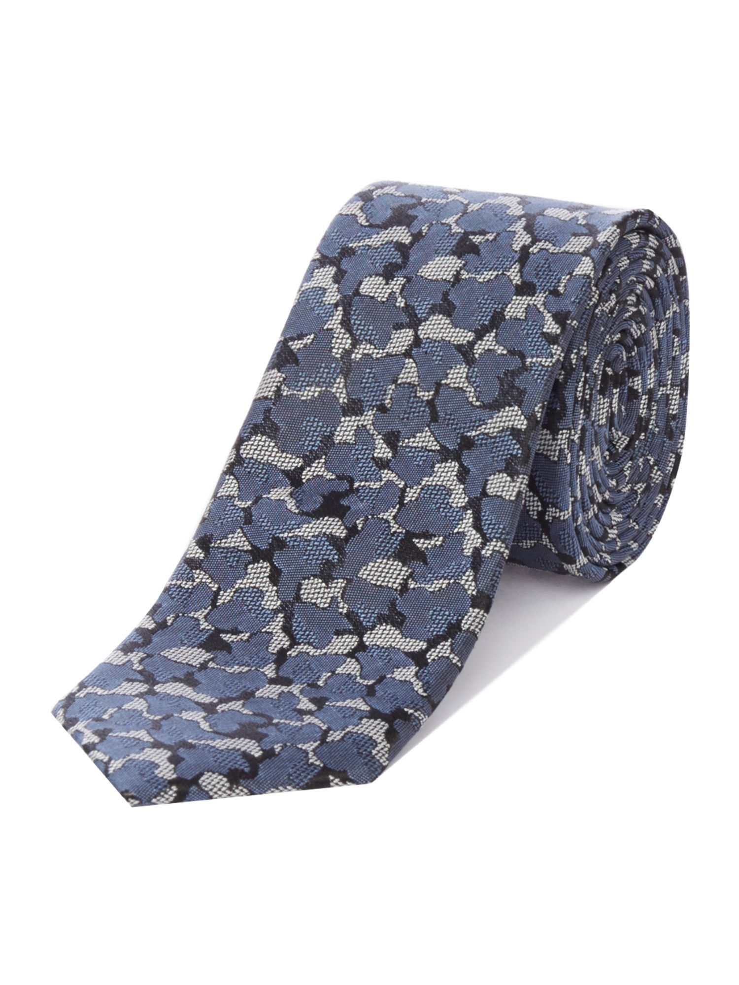 Ted Baker Pluto Camouflage Printed Tie Navy