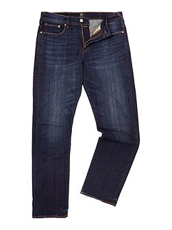 Standard fit dark wash jeans