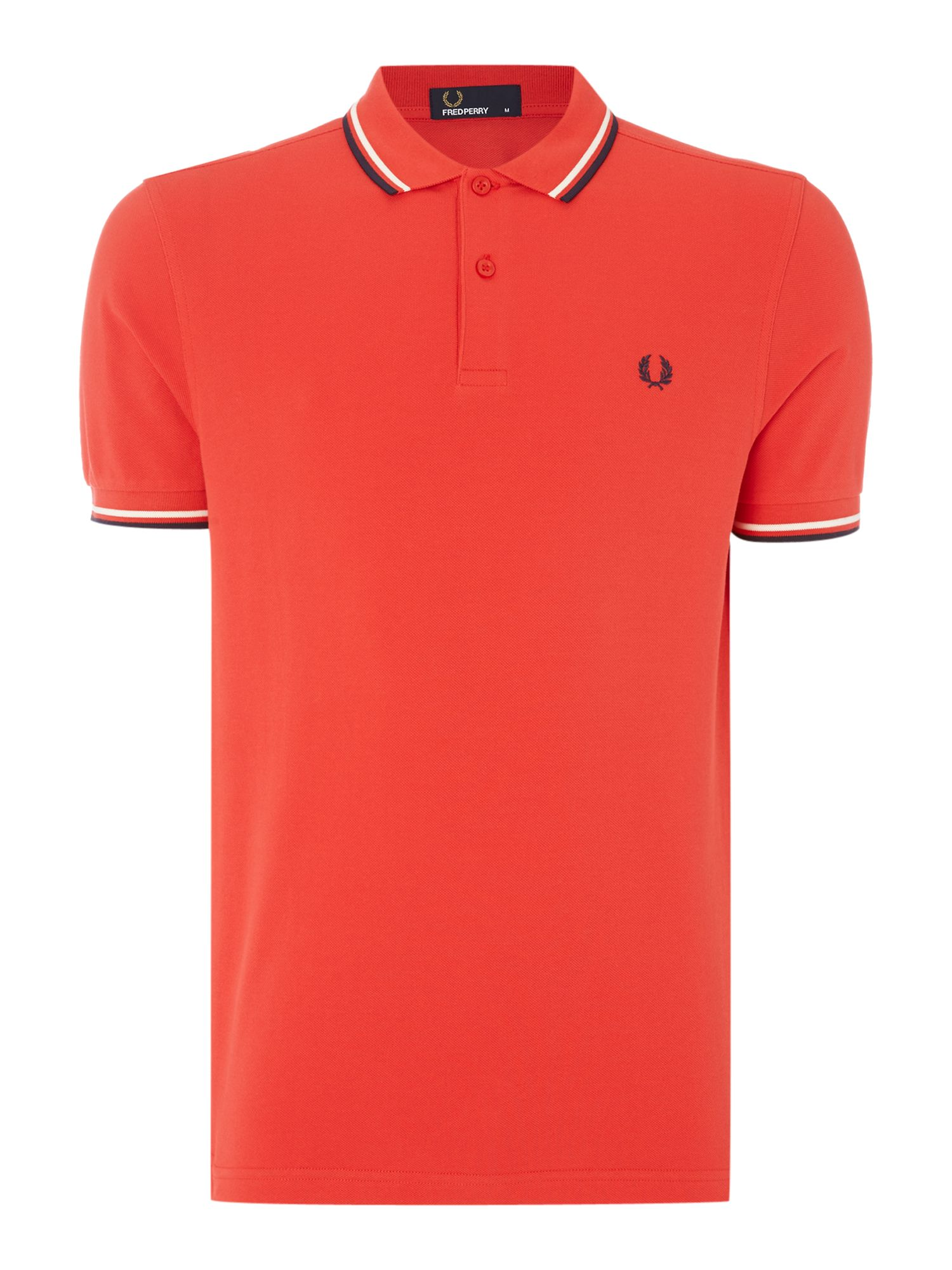 Mens Fred Perry Twin Tipped Polo Shirt Pink