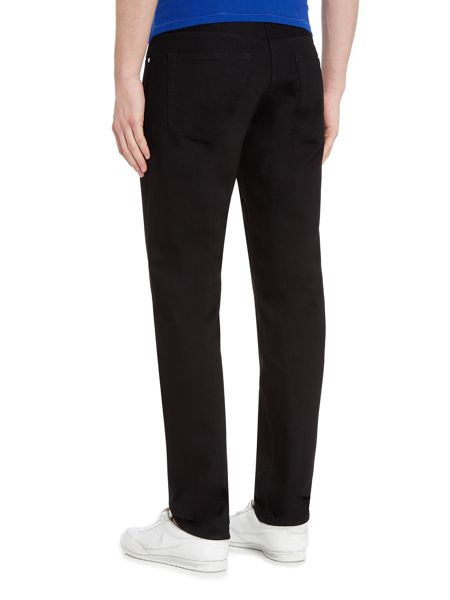 PS By Paul Smith Tapered stretch fit black jeans
