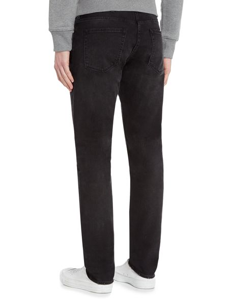 PS By Paul Smith Tapered stretch fit black wash jeans