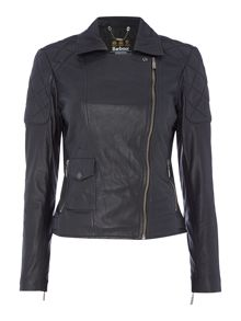 Barbour Barbour international sherco leather jacket