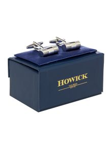 Howick Tailored Cufflink With Ribbed Cylinder