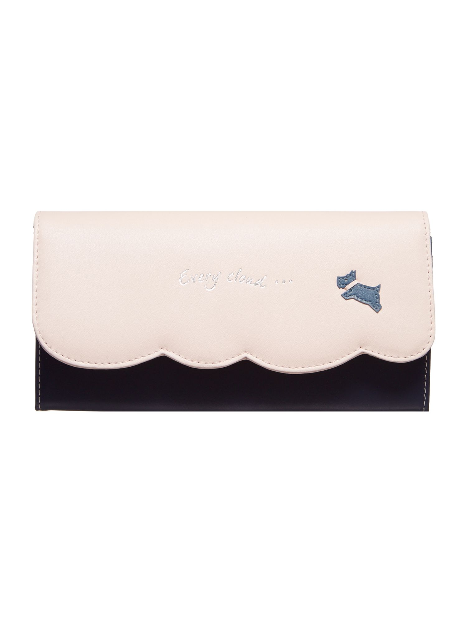 Radley Every cloud large slim flapover matinee purse Navy