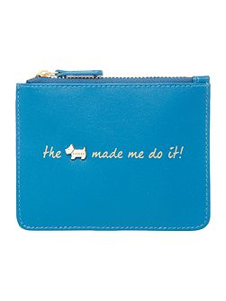 Excuses excuses small zip pouch purse