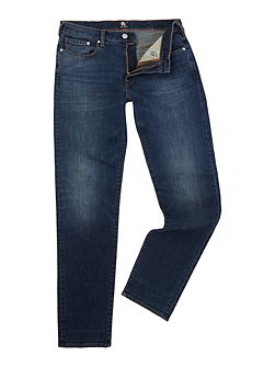 Tapered fit dark wash jeans