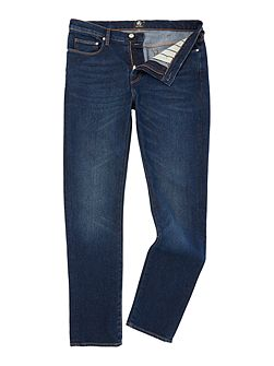 Slim fit stretch dark wash jeans