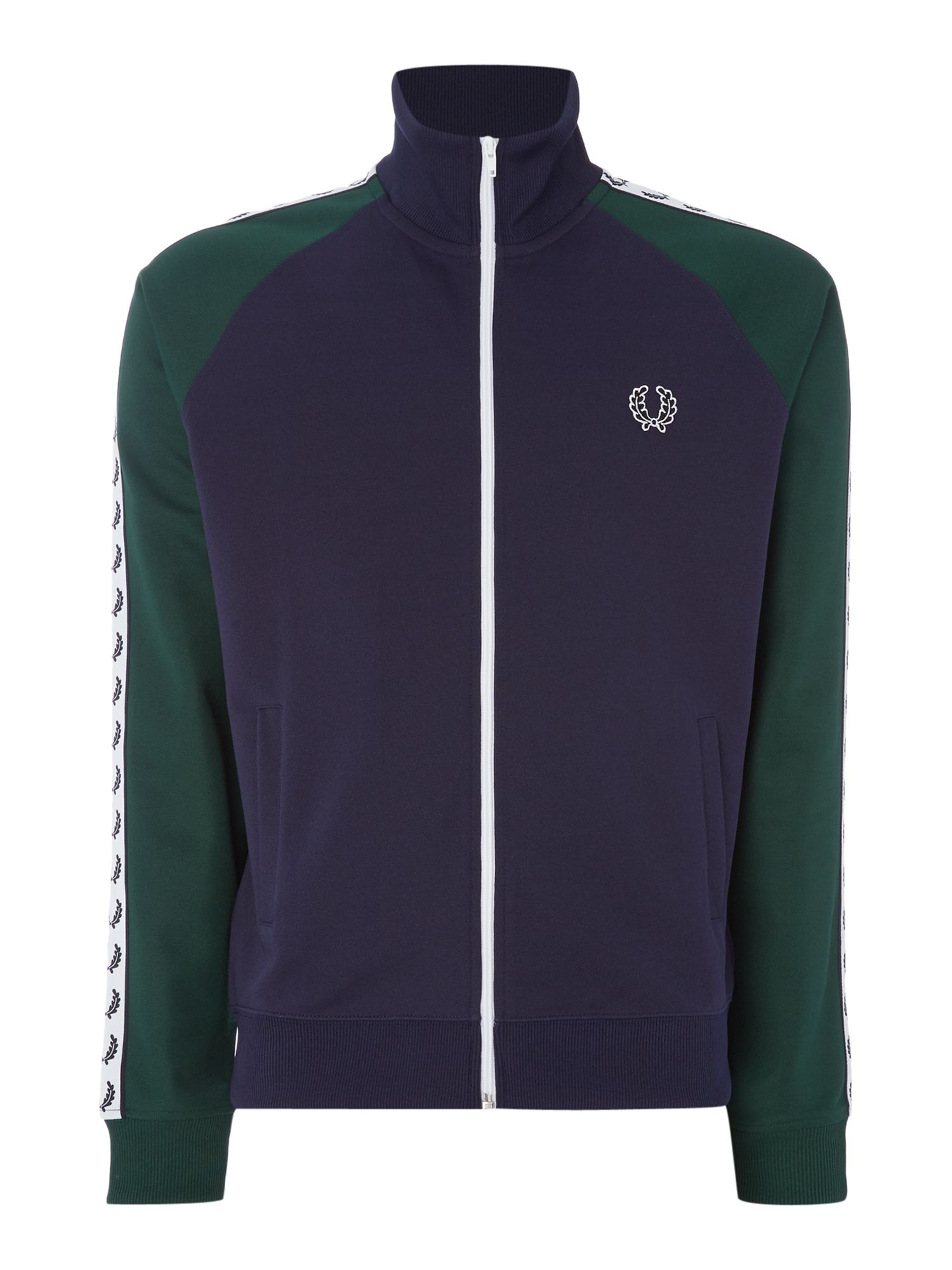 Mens Fred Perry Taped track jacket Navy