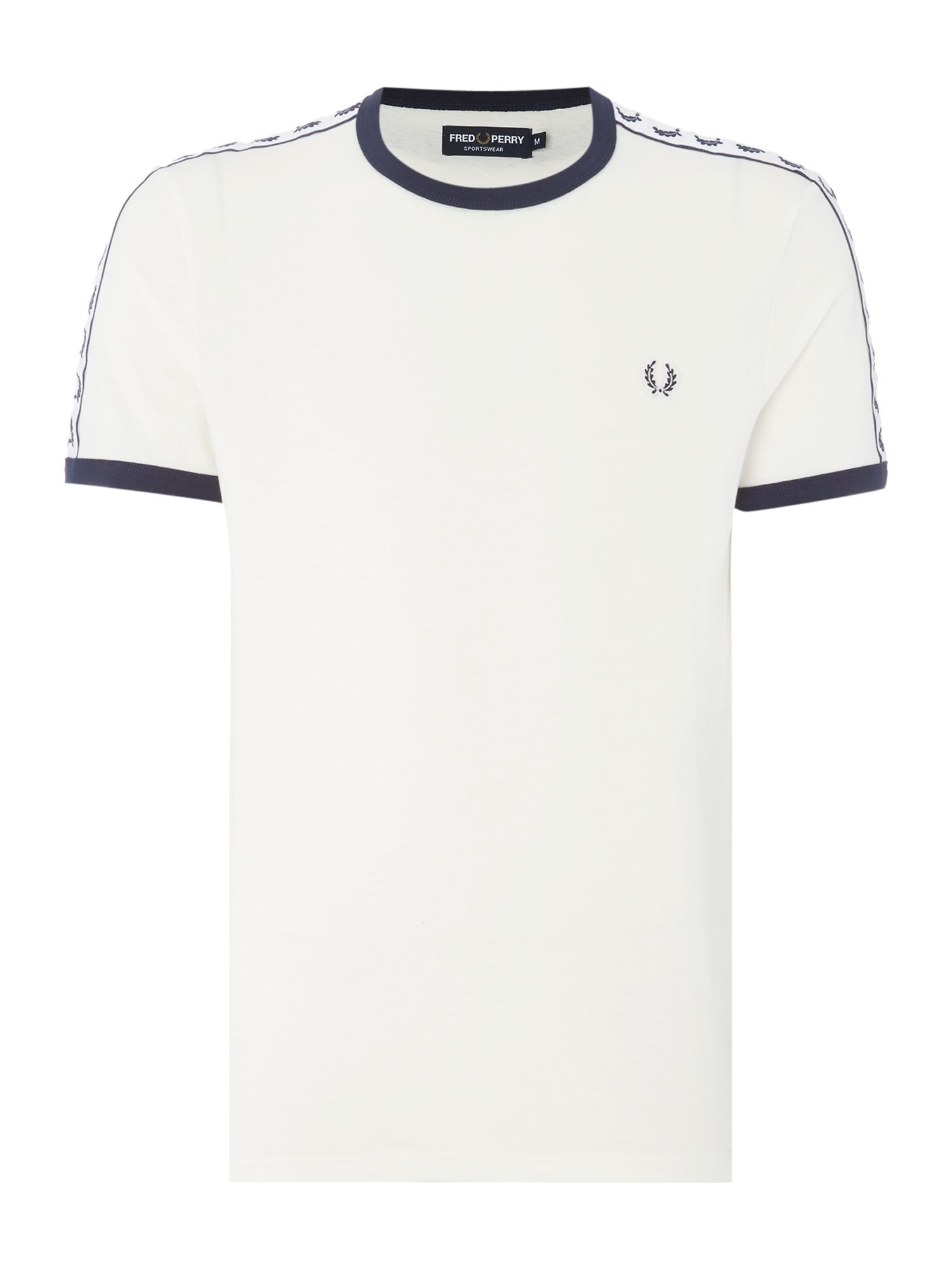 Men's Fred Perry Plain Crew Neck Regular Fit T-Shirt, White