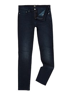 Slim stretch fit navy dark wash jeans