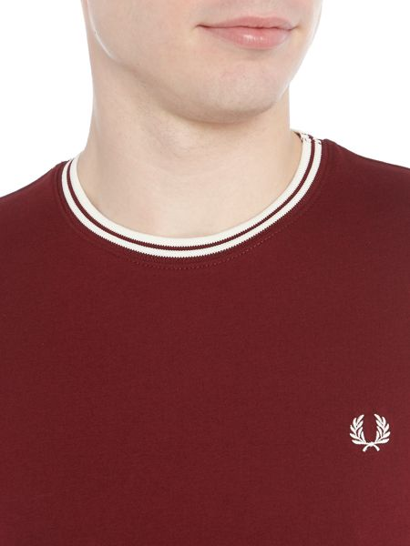 Fred Perry Crew neck twin tipped collar t-shirt