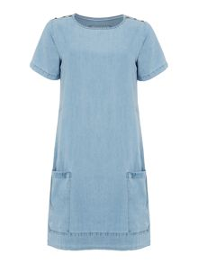 Brakeburn Chambray smock dress