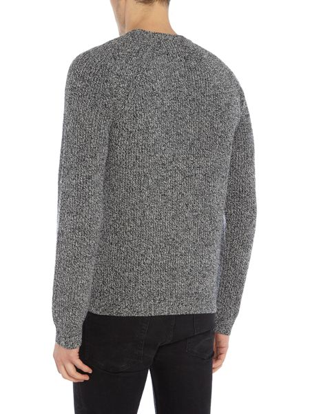 PS By Paul Smith Lambswool cable knit crew neck jumper