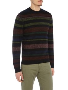 PS By Paul Smith Multi stripe knitted jumper