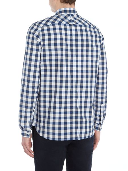 Fred Perry Long sleeve marl large gingham shirt
