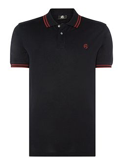 Regular fit tipped logo polo