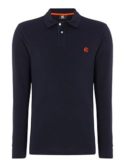 Regular fit long sleeve logo polo