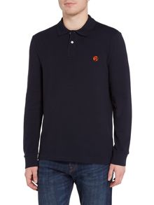 PS By Paul Smith Regular fit long sleeve logo polo