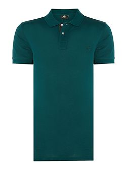 Slim fit tonal logo polo top