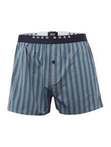 Hugo Boss 2 Pack Striped and Check Woven Boxers