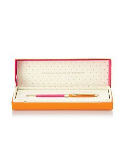 Orange and Pink Boxed Ballpoint Pen